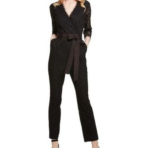 Donna Morgan: Lace, long sleeve black Jumpsuit